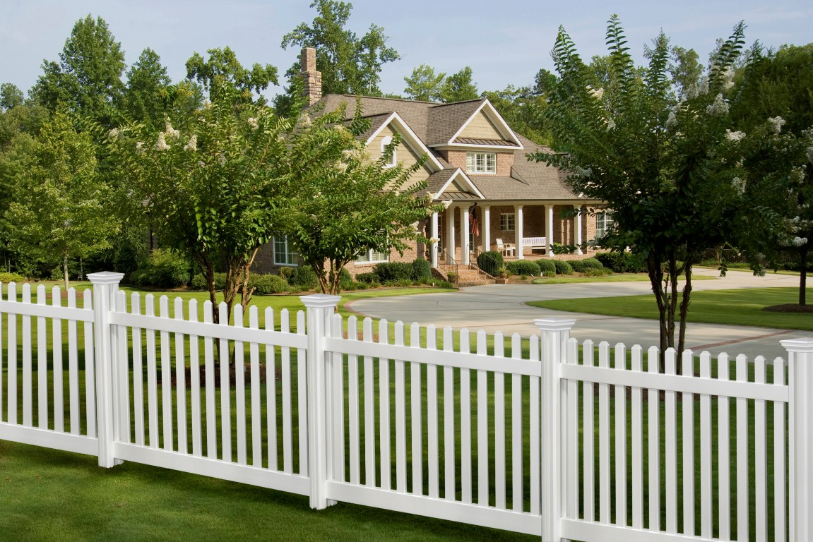 vinyl picket fence front yard. Perfect Fence Throughout Vinyl Picket Fence Front Yard